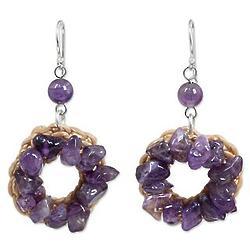 Purple Summer Amethyst Dangle Earrings