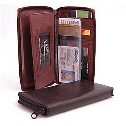 Deluxe Zippered Checkbook Cover and Wallet