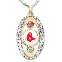 For the Love of the Game Boston Red Sox Swarovski Pendant