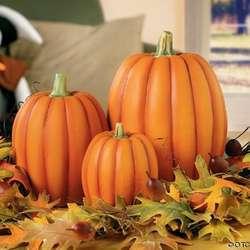 Terra Cotta Pumpkin 3 piece Set