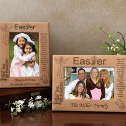 Personalized Easter Blessings Wooden Picture Frame