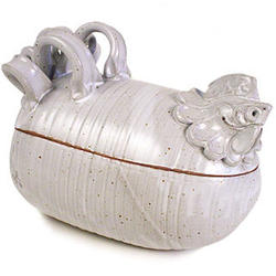 Stoneware Chicken Roaster
