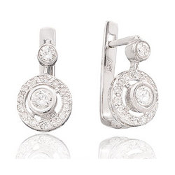 1/2 CTW Diamond 14K Bezel Deco Drop Earrings