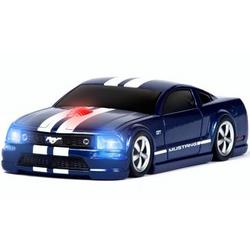 Mustang GT Road Mice Wireless in Blue with White Stripes