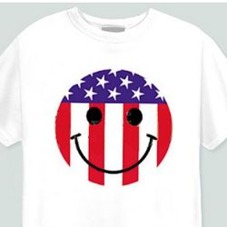 Flag Smiley Face Youth T-Shirt