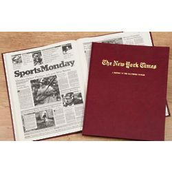 Personalized New York Times Baltimore Orioles Team History Book