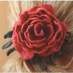 Berry Rose Silk Road Petals Brooch