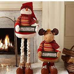 Personalized Plush Snowman or Moose Pop Up