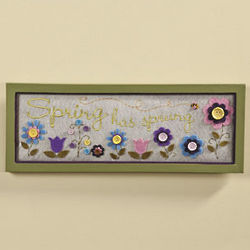 Spring Has Sprung Wall Hanging