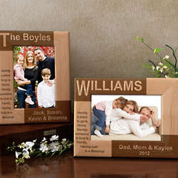 Personalized Family Name Wooden Picture Frame