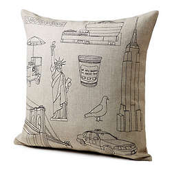 Hand Stitched City Icon Pillows