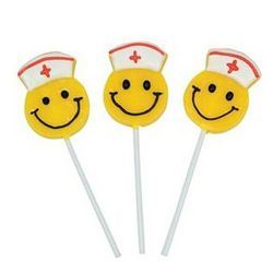 12 Smiley Face Nurse Lollipops