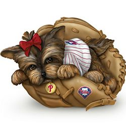 Fur-Ever a Fan MLB Philadelphia Phillies Yorkie Figurine