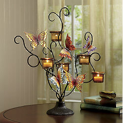 Butterfly Tealight Votive Candleholder