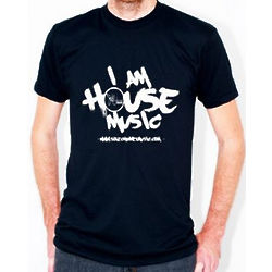 I Am House Music Black T-Shirt