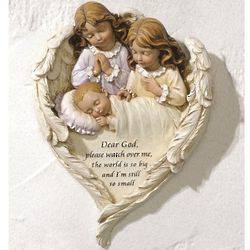 Baby's Hush-A-Bye Guardian Angel Plaque