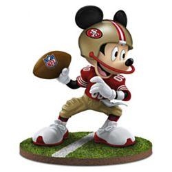 Mickey Mouse San Francisco 49ers Quarterback Hero Figurine