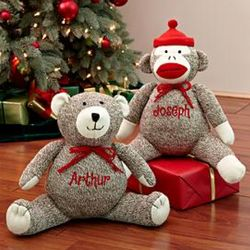 Personalized Sock Monkey Cuddly Companion