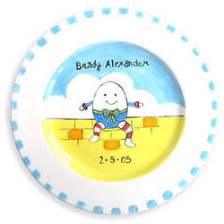 Humpty Dumpty Personalized Birth Plate