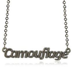 Khaki Camouflage Necklace