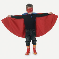 Kid's Superhero Cape and Mask Costume