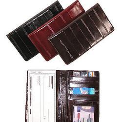 Eel Skin Checkbook Cover & Card Holder