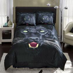 Savage Panther Full Comforter Set