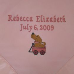 Sweet Puppy Dog Personalized Baby Blanket