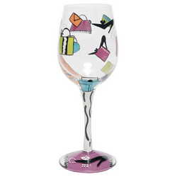 Shopaholic Wine Glass