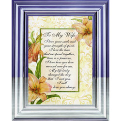 To My Wife Timeless Message Musical Frame