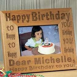 Personalized Happy Birthday to You Frame