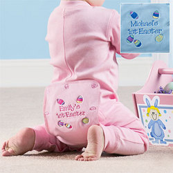 Personalized Easter Baby Long Johns