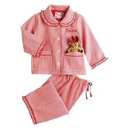 Personalized Striped Reindeer Pajamas