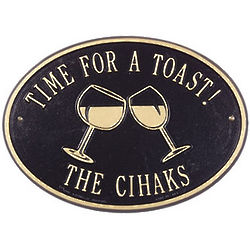 Personalized Wine Glasses Sign
