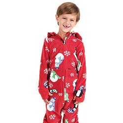 Hoodie-Footie Snuggle Fleece for Boys