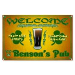 Personalized Irish Welcome Metal Beer Sign