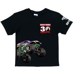 Monster Jam Grave Digger 30th Anniversary Black T-Shirt