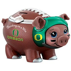University Of Oregon Ducks Porcelain Football Piggy Bank