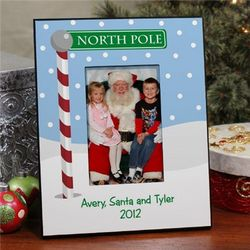 Personalized Visit with Santa Picture Frame