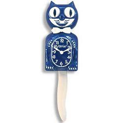 Kit Cat Clock in Sapphire Blue