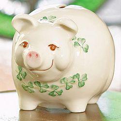 Handcrafted Irish Pig Money Bank