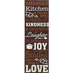 Personalized Kitchen Recipe Canvas