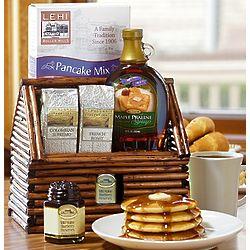 Log Cabin Breakfast Gift Basket