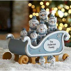 Personalized Snow Buddies Sleigh Figurine
