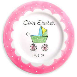 Baby Carriage Personalized Birth Plate