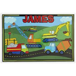 Kid's Personalized Truck Placemat