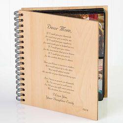 Dear Mom Poem Wood Photo Album
