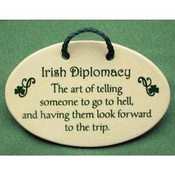 Irish Diplomacy Ceramic Plaque
