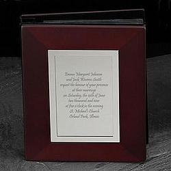 Mahogany Wedding Invitation Keepsake Photo Album