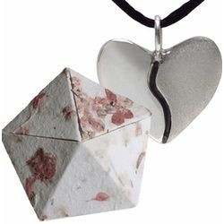 First Anniversary Origami Box with Silver Harmony Heart